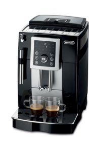 complete all-in-one coffee station with a built-in grinder