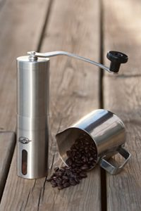 manual coffee grinder with metal cylinder model