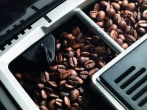 coffee beans in DeLonghi ECAM23210B