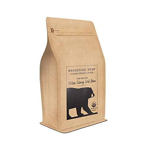 Wandering Bear Extra Strong Organic Coarse Ground Coffee for Cold Brew