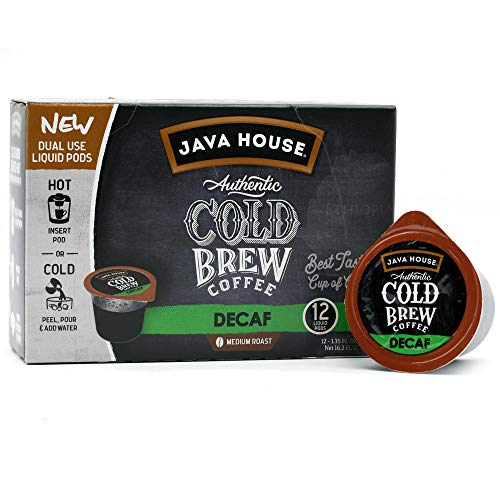 Java House Cold Brew Coffee Concentrate Single Serve Liquid Pods