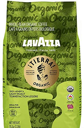 Lavazza Organic ¡Tierra! Whole Bean Coffee Blend, Light Roast