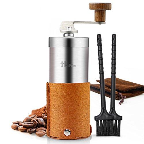 Portable Manual Coffee Grinder Set Professional Conical Ceramic Burrs