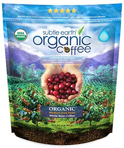 Subtle Earth Organic Coffee - Medium-Dark Roast - Whole Bean