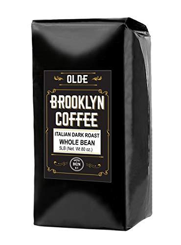 Olde Brooklyn Coffee Italian Dark Roast Whole Coffee Beans