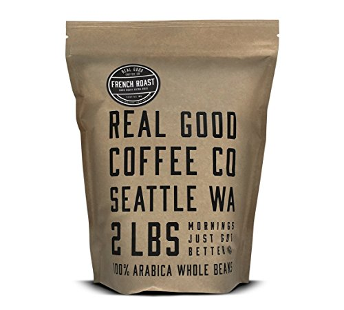 Real Good Coffee Co French Dark Roast Whole Coffee Beans