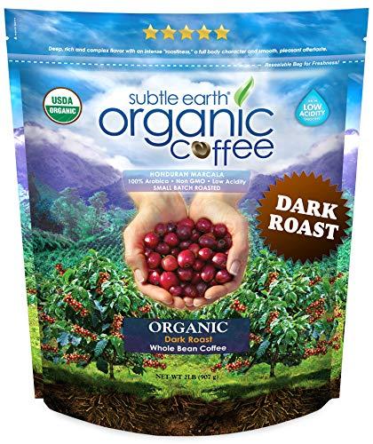 Don Pablo Coffee Subtle Earth Organic Dark Roast Whole Coffee Beans